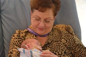 Nana loving on Landon