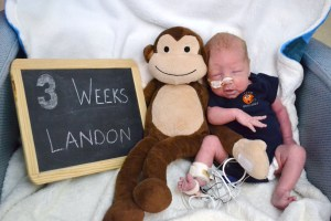 Three week Landon!