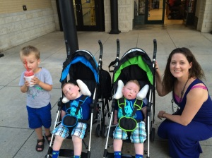 Landon and Karson were distracted by the snow cone!